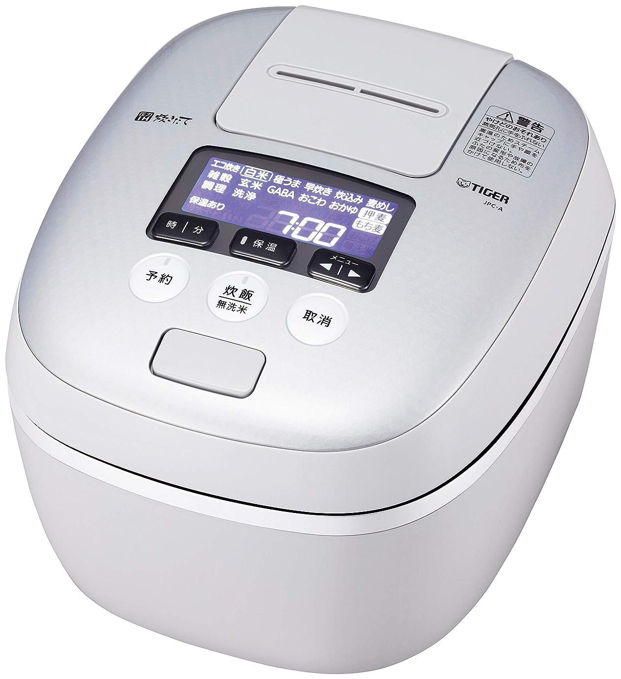 テレマコス泥棒反対タイガー 炊飯器 5.5合 圧力IH 土鍋コーティング 極うま機能付き 炊きたて ホワイトグレー JPC-A101-WH