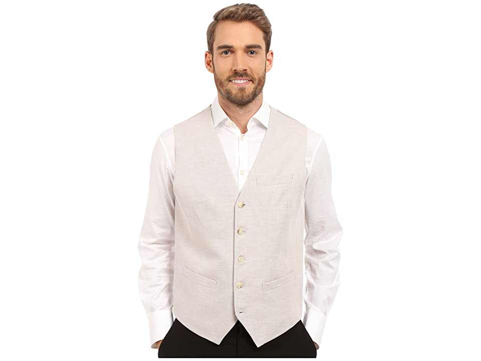 Perry Ellis Linen Suit Vest (Natural Linen) Men