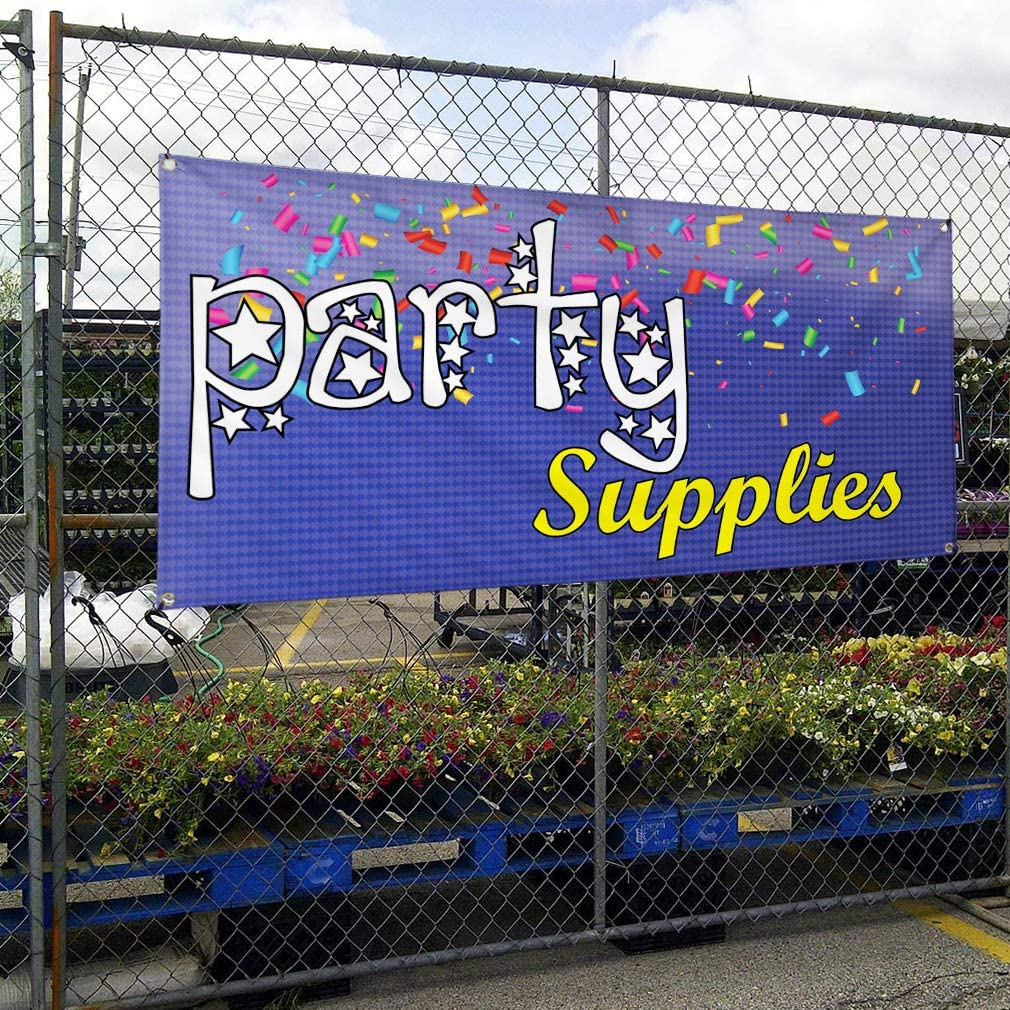 Vinyl Banner Multiple Sizes Party Supplies Advertising Printing E Business Outdoor Weatherproof Industrial Yard Signs Purple 10 Grommets 60x144Inches