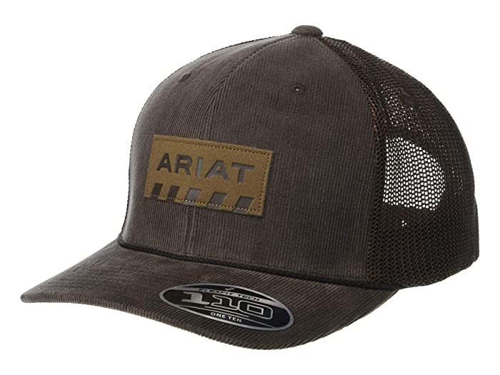 Ariat   Flexfit110 Snapback Corduroy Rebar Patch Logo (Brown) Caps