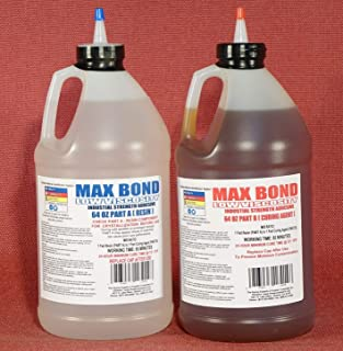 MAX MARINE GRADE Epoxy Resin System - 1 Gallon Kit - Wood Sealing, High Strength Fiberglassing Marine Applications, Composite Fabricating Resin