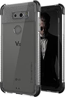 Ghostek Covert2 Clear LG V30 Case Military Grade Drop Tested   Ultra Thin Transparent – Supports Wireless Charging & Fingerprint Compatible   Black