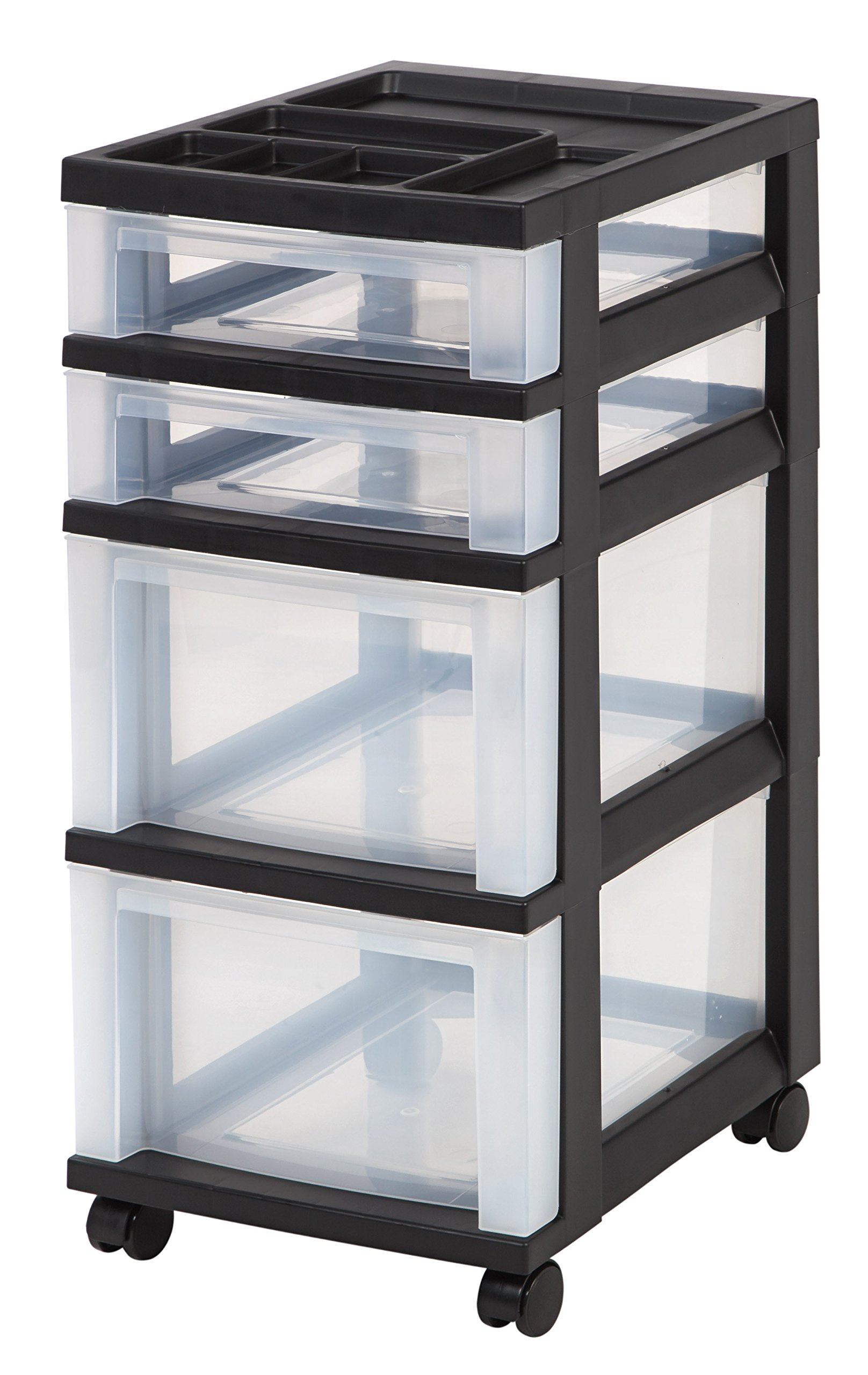 IRIS 4 Drawer Rolling Storage Organizer