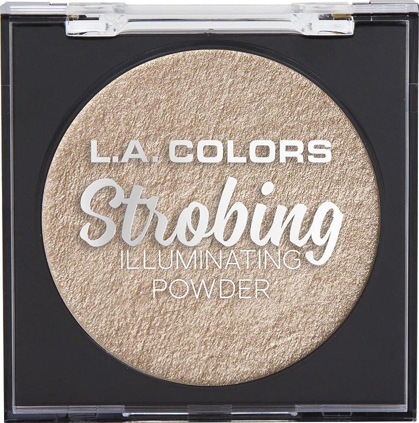 マグ義務付けられた結果としてL.A. COLORS Strobing Illuminating Powder - Champagne (並行輸入品)