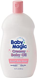 Baby Magic Creamy Baby Oil, Sweet Baby Rose, 16.5 Ounces (Pack of 6)