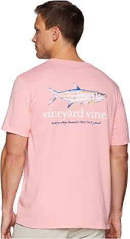 Short Sleeve Painted Tarpon Pocket Tee