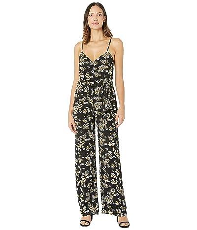 MICHAEL Michael Kors Glam Fleur Jumpsuit (Black/Ivy) Women
