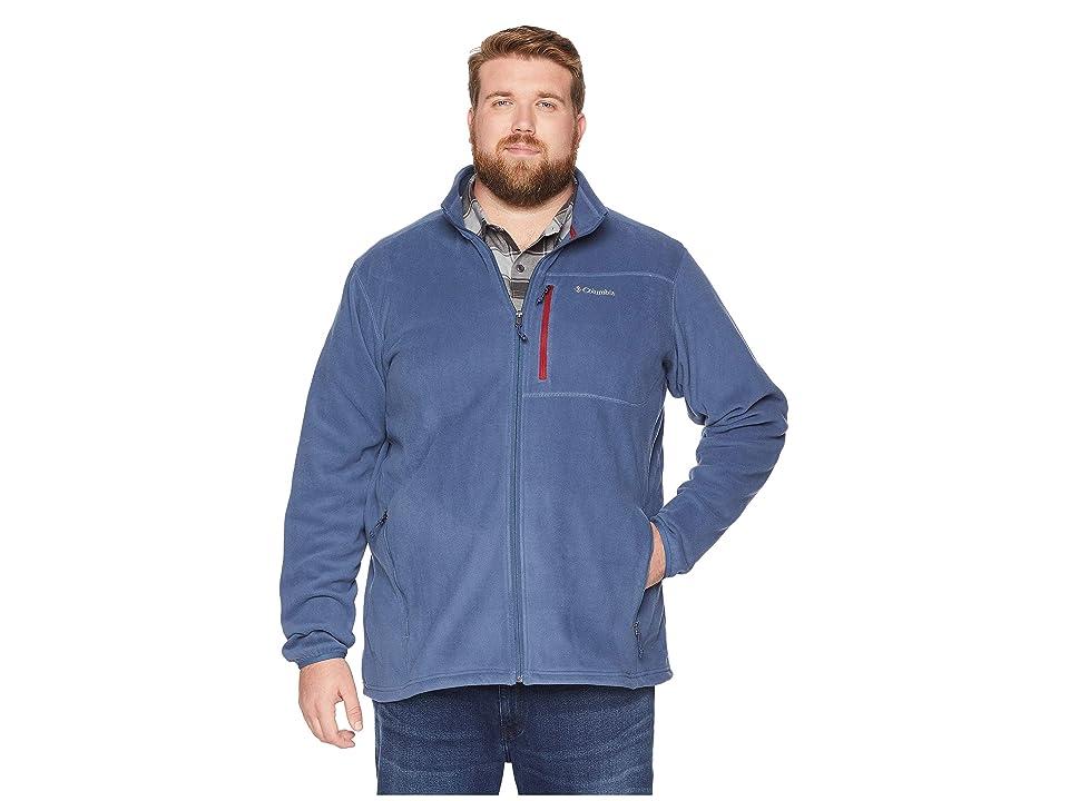 Columbia Big Tall Cascades Explorertm Full Zip Fleece (Dark Mountain/Red Element) Men