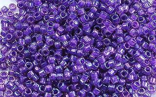11/0 TOHO Treasures Japanese Glass Seed Beads #928-Rainbow Rosaline/Opaque Purple Lined 5g