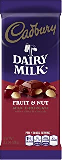 CADBURY DAIRY MILK Chocolate Bar, 3.5oz, Fruit & Nut