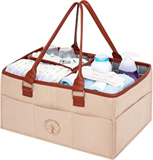 Takajak Baby Diaper Caddy Organiser - Portable Diaper Bag for Changing Table,Newborn Registry Must Haves,Nursery Essential...