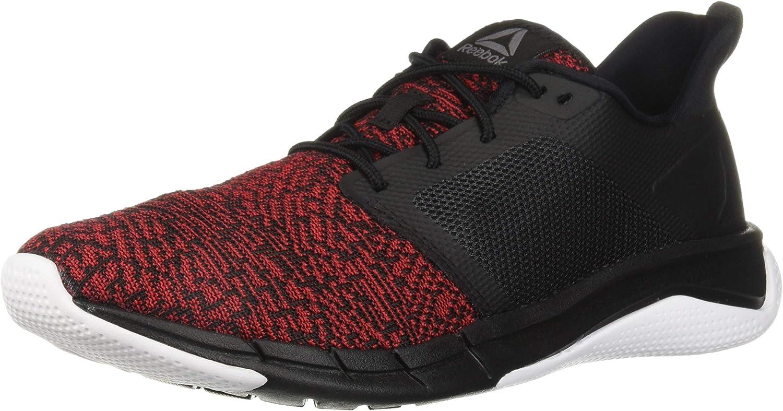 Reebok Men's Print Run 3.0 shoes, Black Primal red White, 12.5 M US