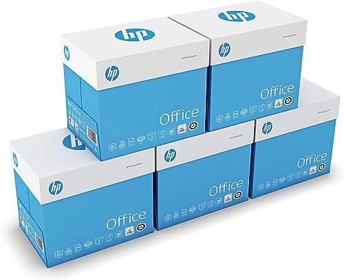 HP Office - Papier Multifonction Blanc 80 g/m² A4 - Lot de 5 cartons - 25 ramettes de 500 feuilles - 12.500 feuilles