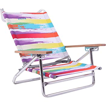 WEJOY アウトドアローチェア キャンプ椅子 ビーチ リクライニング 5段階 折りたたみ コンパクト フォールディング ガーデン 庭 WF1003