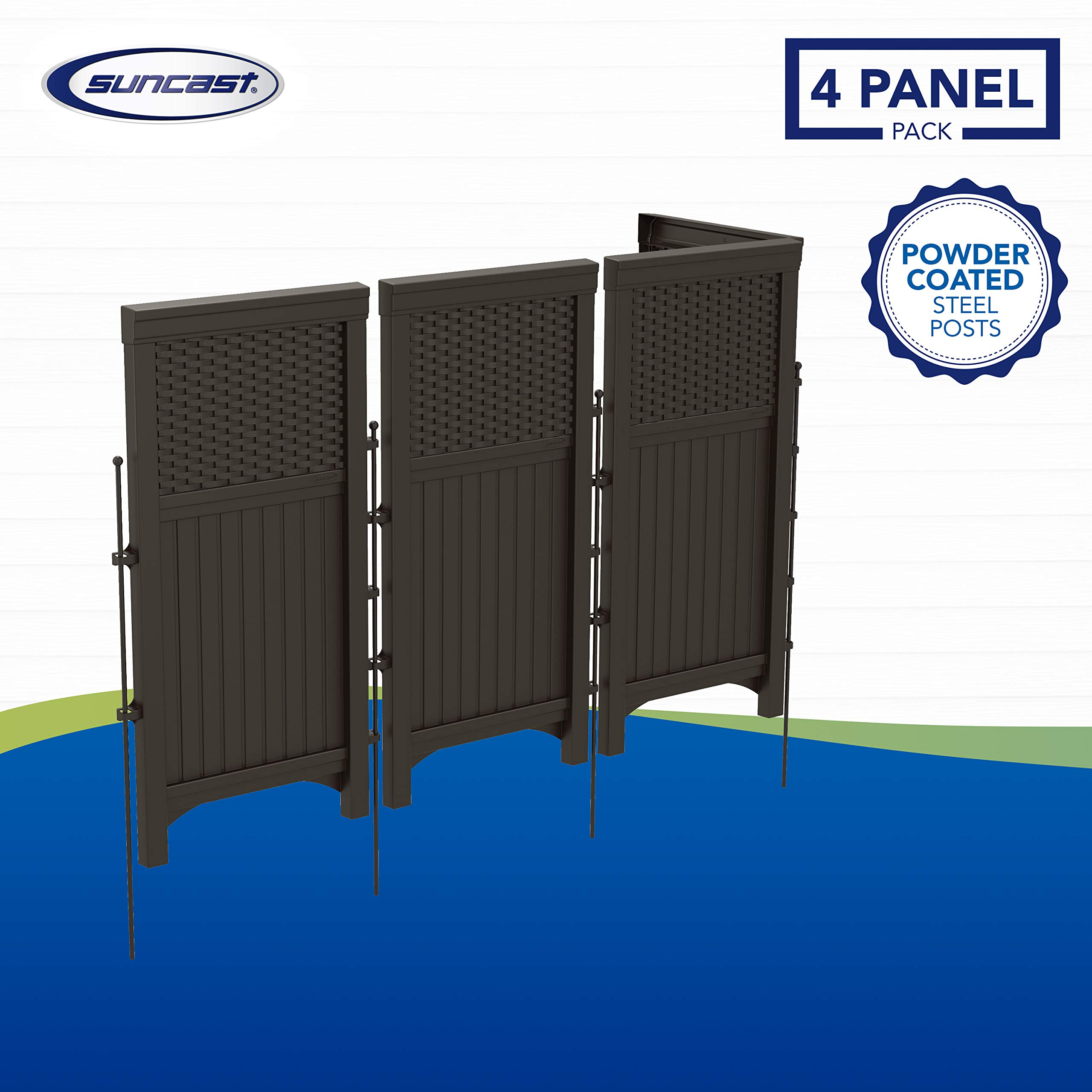Suncast FSW4423 4 Panel Resin Wicker Outdoor Screen: Amazon.es: Jardín
