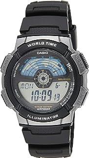 Casio Mens Quartz Watch, Digital Display and Resin Strap AE-1100W-1AVDF