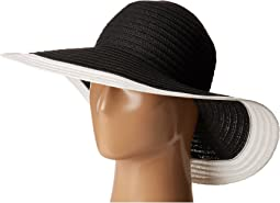 UBL6491 Four Buttons Floppy Color Block Hat