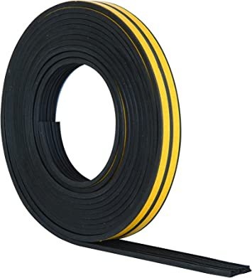 5//10m EPDM Draught Excluder Self Adhesive Rubber Door Window Seal Strip Tapes UK