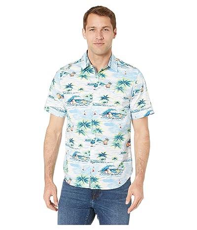 Nautica Casual Island Short Sleeve Shirt (Alaskian Blue) Men
