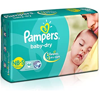 Pampers Baby Dry Diapers - 46 Count (New Born)