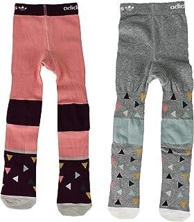 adidas, 2x Originals Niños Niñas Pantis Niños Calcetines Set Pantalón Rosa Gris