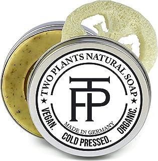 SET Green Balsam Akne Naturseife gegen Pickel | Seife gegen unreine Haut | Anti Pickel Naturseife | Seife gegen Akne | Gratis Seifenbox  Seifenablage | von Two Plants