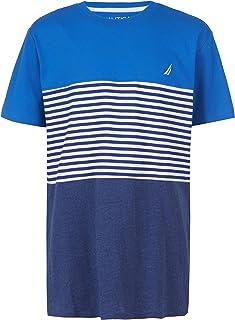 Nautica Boys' Short Sleeve Striped Crew Neck Tee