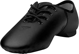 Linodes Leather Lace Up Unisex Jazz Shoe for Women and Men's Dance Shoes