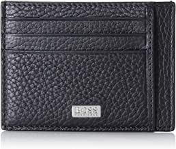 New style 50312009 Hugo BOSS Men/'s Black Leather Wallet /'Subway Trifold Red/'