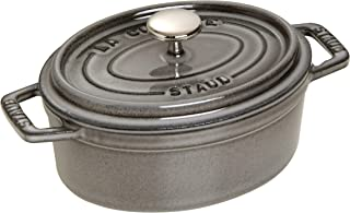 Staub 1101718 Oval Cocotte Pot, 17 cm, Graphite Grey