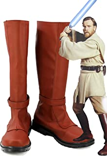 Star Wars Jedi Knight OBI Wan Kenobi Cosplay Shoes Costume Boots Custom Made 2