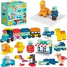 burgkidz Large Building Blocks, 278 Pieces Kids Toddler Educational Toy Classic Big Size Bricks Building Blocks, 14 Fun An...