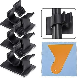 100 Clips Sujeta Cables Clips de Cable Ajustable Nylon Cable Abrazadera de Alambre Organizador Se puede utilizar para P...