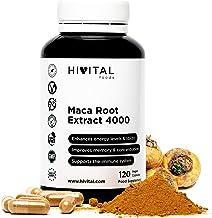 Maca Peruana Extracto Concentrado 4000 mg | 120 cápsulas vegetales | Incrementa los niveles de energía, la vitalidad y el rendimiento atlético, y ayuda al sistema inmunológico y al equilibrio hormonal