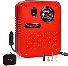 PowRyte Works Dial Tire Inflator - 12-Volt Portable Auto Air Compressor with Precise Pressure Gauge
