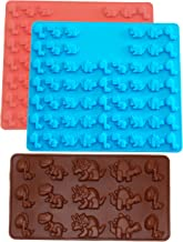 Three Pack Dinosaur Kit Silicone Candy molds and Gummy Bear Mold, Non-Stick Gummies Chocolate Gelatin Tray …