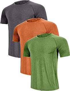 ZITY Men's Sport Tshirt Running Short Sleeve T-Shirt 3 Pack Or 2 Pack Or 1 Pack