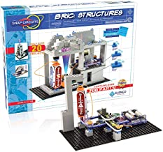 Snap Circuits BRIC: Structures   Brick & Electronics Exploration Kit   Over 20 Stem & Brick Projects   Full Color Project ...