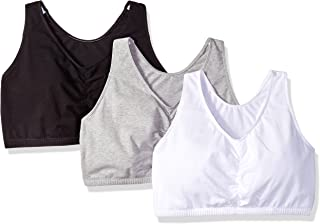 5647803ae3642 Fruit of the Loom Women sShirred Front Racerback Bra(Pack of 3)
