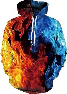 Freshhoodies Adult Unisex Fleece Cool Graphic Hoodies Realistic 3D Print Novelty Couple Sweatshirt with Pockets