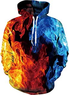 Women/Men Fleece Cool Graphic Hoodies Realistic 3D Print Novelty Couple Sweatshirt with Pockets S-XXL