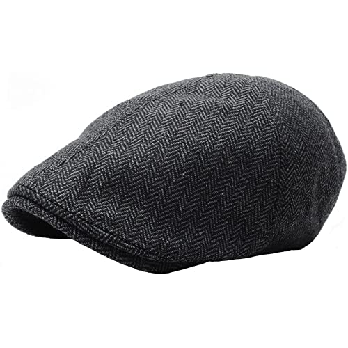 141f416db9339 RaOn N04 Herringbone Soft Pattern Driving Wool Ivy Cap Cabbie Ascot Newsboy  Beret Hat