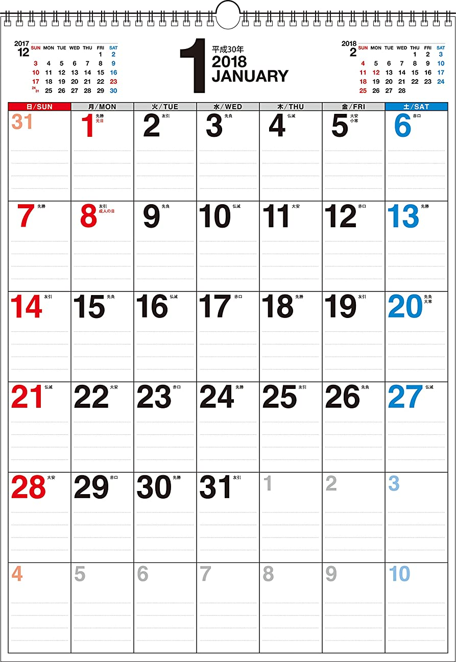 ルームページェント故国2018年 書き込み式シンプルカレンダー B3タテ ([カレンダー])