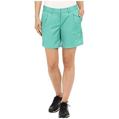 Nike Golf Oxford Shorts (Lucid Green/White) Women