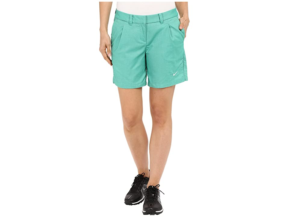 Nike Golf Oxford Shorts (Lucid Green/White) Women