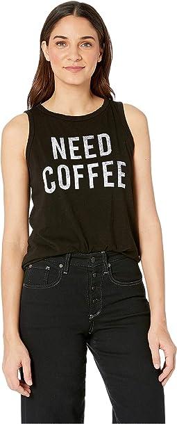 Need Coffee Slub Tank Top