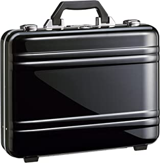 2.0 Large Classic Framed Polycarbonate Attaché Briefcase, Black, One Size