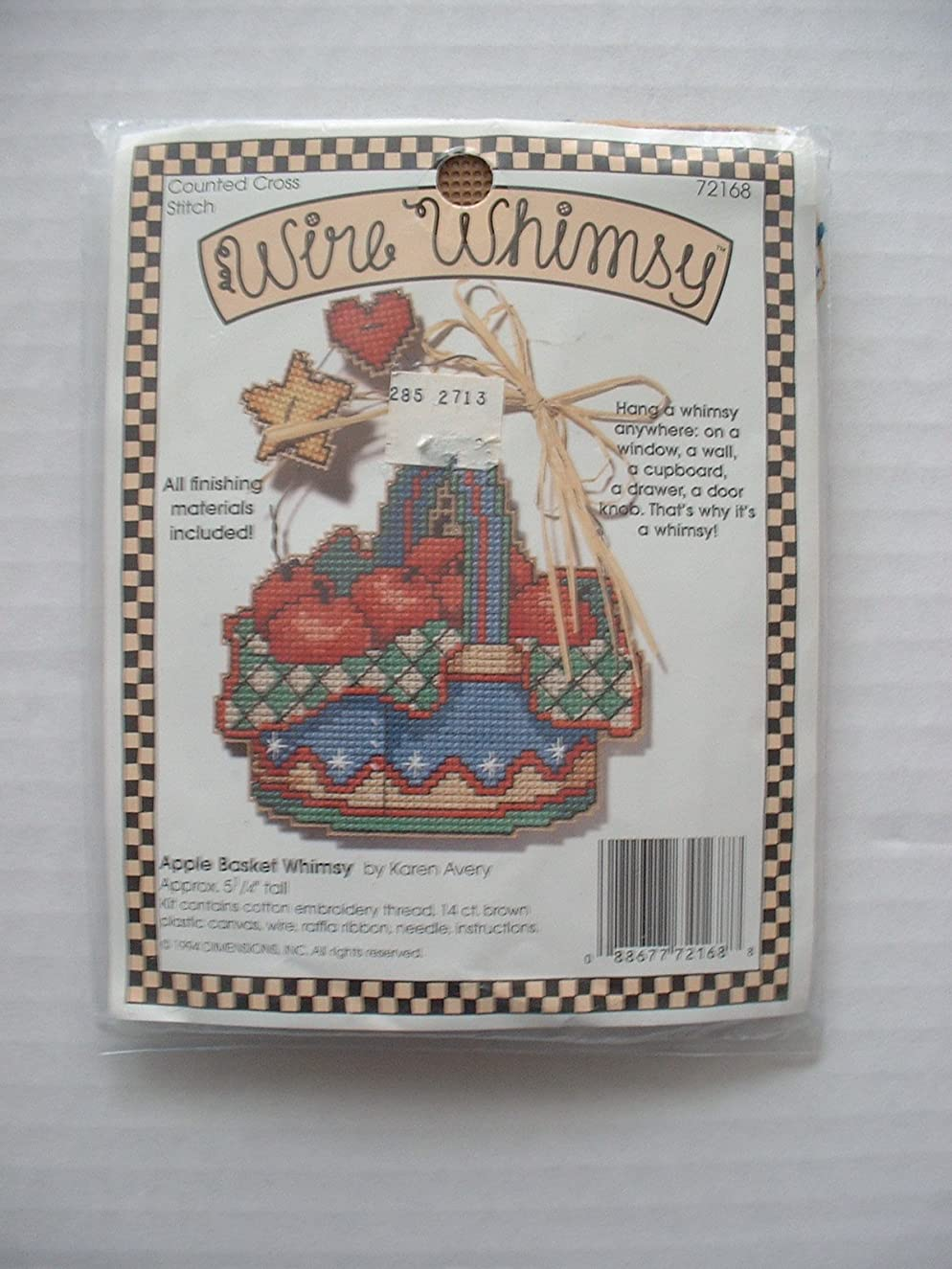 Apple Basket Wire Whimsy by Karen Avery #72168