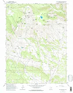 Utah Maps - 1965 Lake Mountain, UT USGS Historical Topographic Map - Cartography Wall Art - 44in x 55in