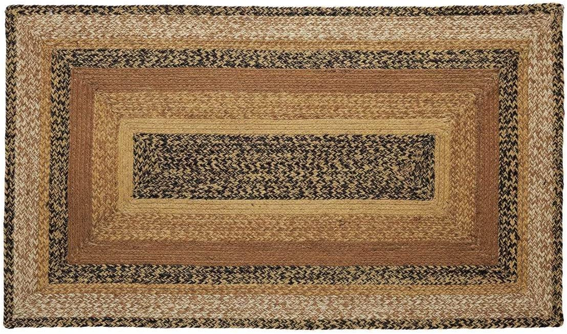 VHC New sales Brands Kettle Grove Selling Jute Rectangular Braid Rug Country 27x48